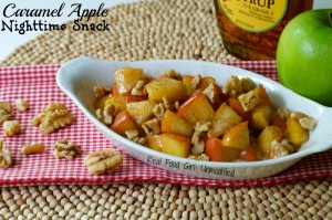 Caramel Apple Nighttime Sleepy Snack by Real Food Girl: Unmodified