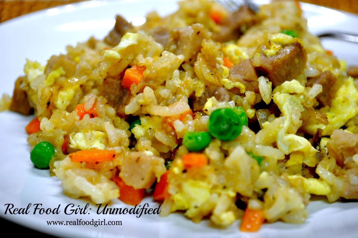 Real Food Pork Fried Rice by Real Food Girl: Unmodified Quick and Easy, Gotta try!!