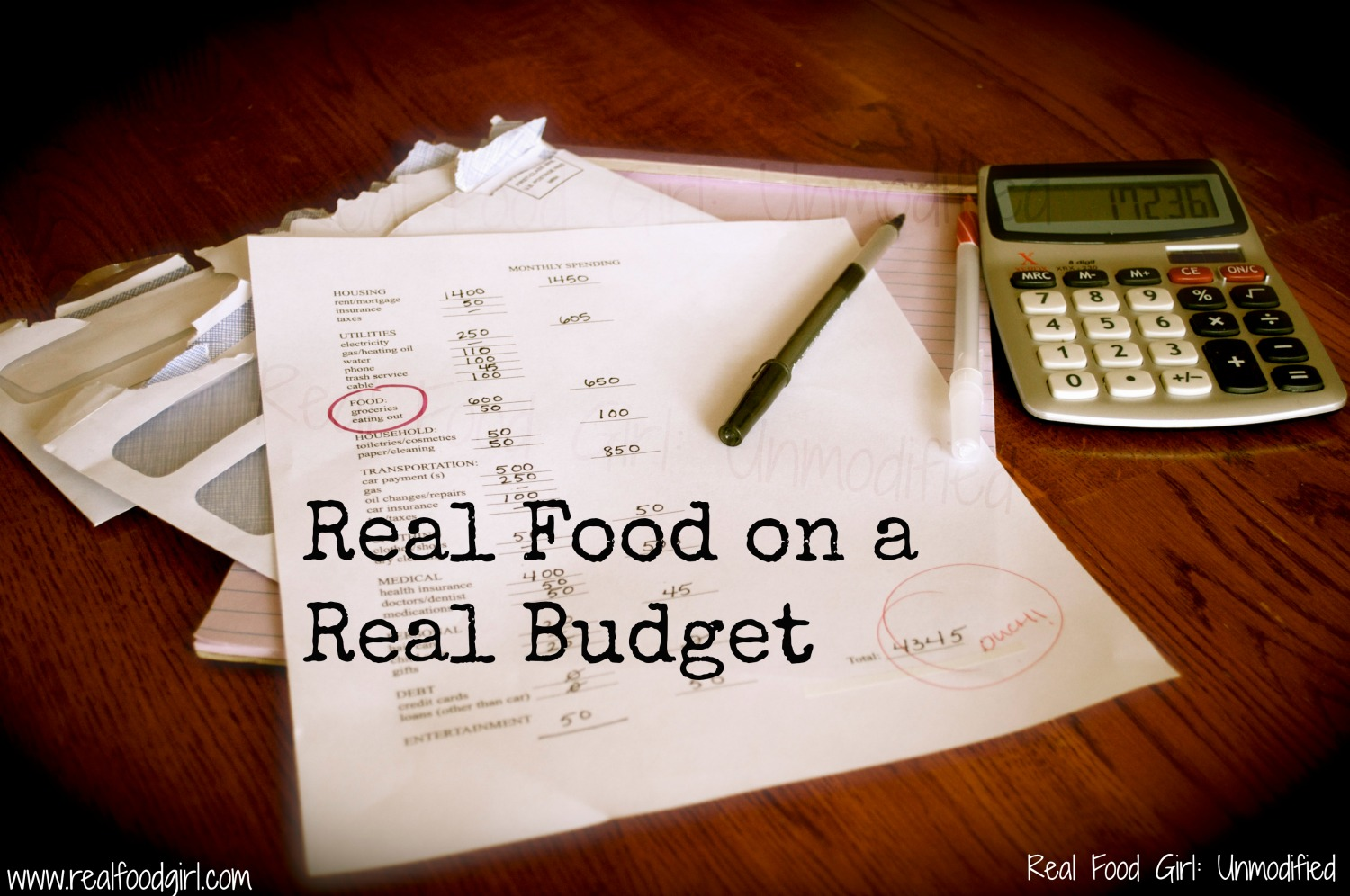 Real Food on a Real Budget--by Real Food Girl: Unmodified
