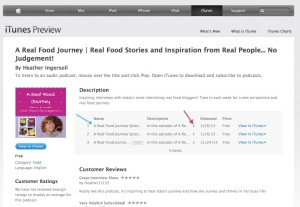 Real Food Girl Unmodified Podcast Interview with Real Food Journey