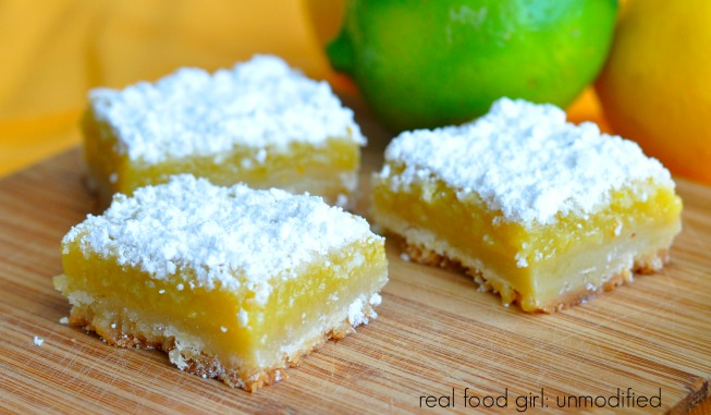 Real Food Triple Citrus Dessert Bars- like lemon bars on steroids by Real Food Girl: Unmodified