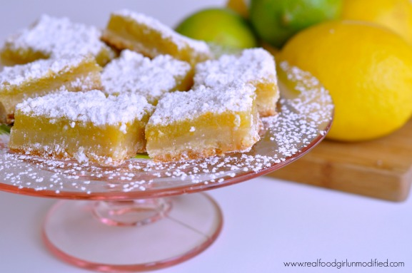 Triple Citrus Bars by Real Food Girl Unmodified- Not your normal boring lemon bars!