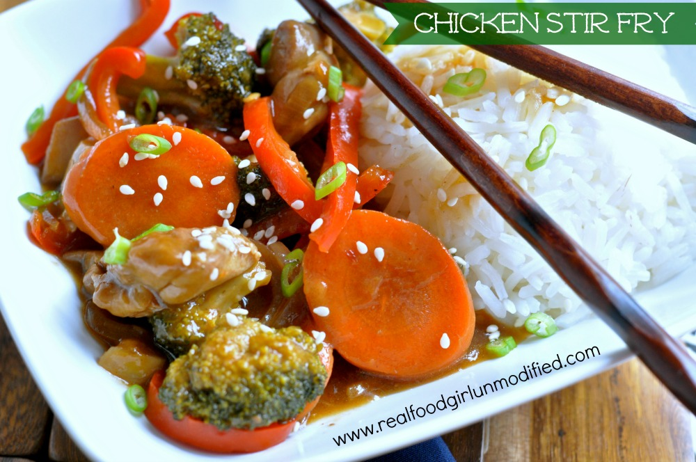 Spicy Orange Ginger Soy Chicken Stir Fry by Real Food Girl Umodified