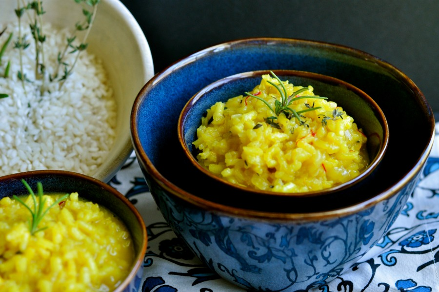 Real Food Girl Unmodified Guest Posts for Mommypotamus- Risotto alla Milanese with Herbs