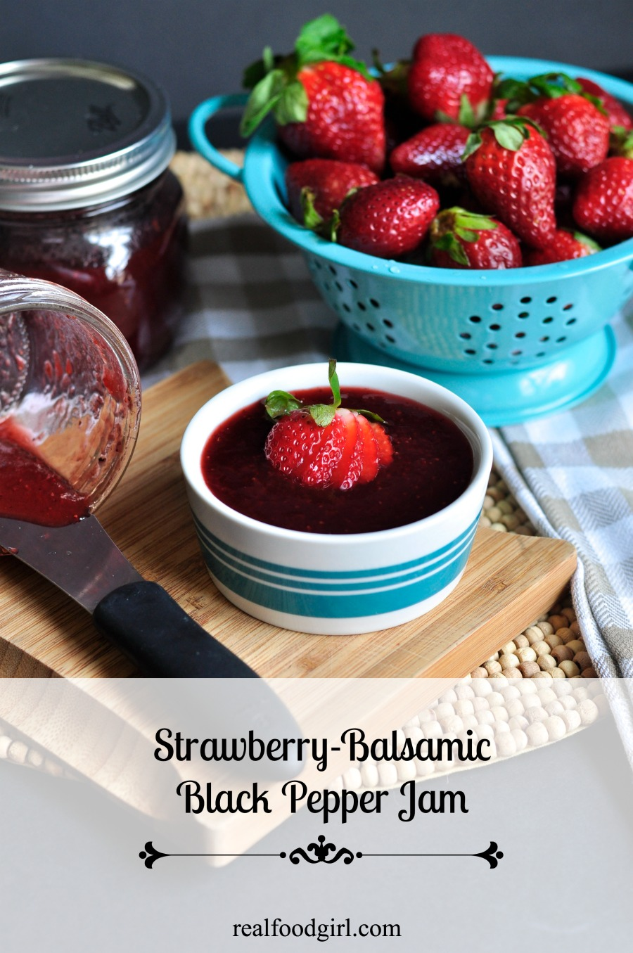 Strawberry Balsamic Black Pepper Jam by Real Food Girl: Unmodified