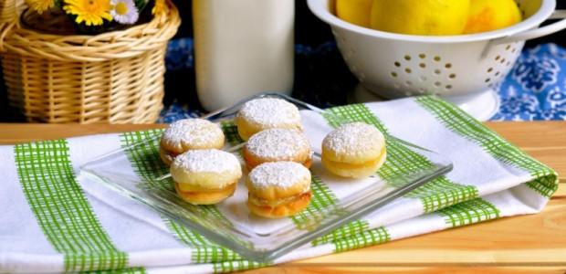 Lemon Gems-- Lemon curd filled sandwich cookies by Real Food Girl: Unmodified