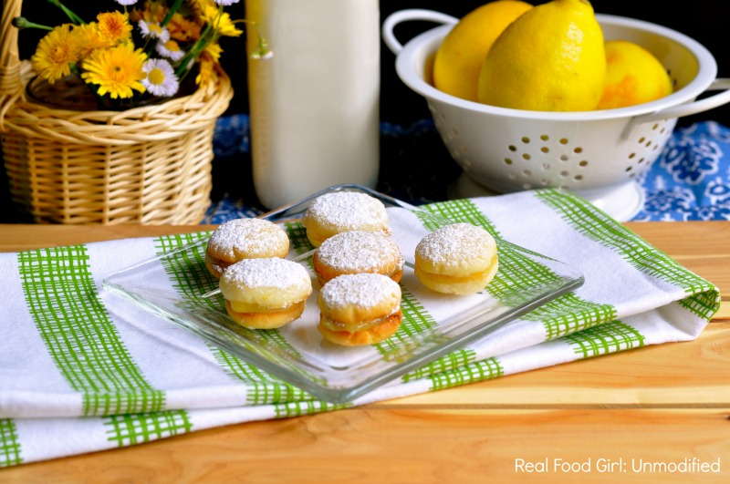 Lemon Gems-- Lemon curd filled sandwich cookies by Real Food Girl: Unmodified