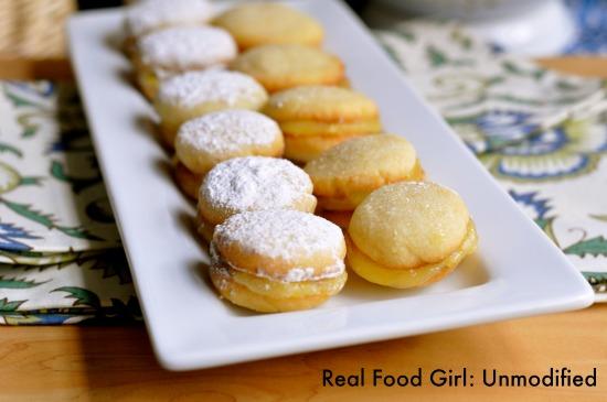 Lemon Gems. Buttery cookies sandwich tart, yet sweet lemon curd filling| Real Food Girl: Unmodified