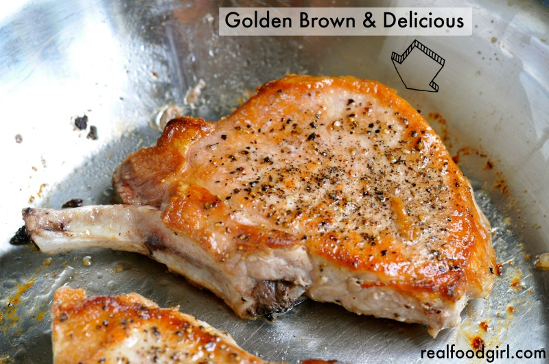 30-Minute Mondays-Pork-Chops-Shallot-Sherry-Pan-Sauce by Real Food Girl: Unmodified.