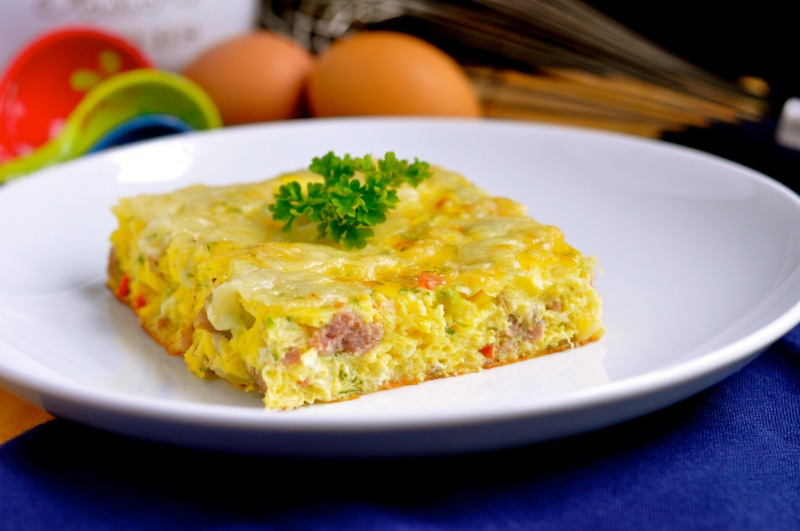 Cheese and Sausage Egg Bake by Real Food Girl: Unmodified