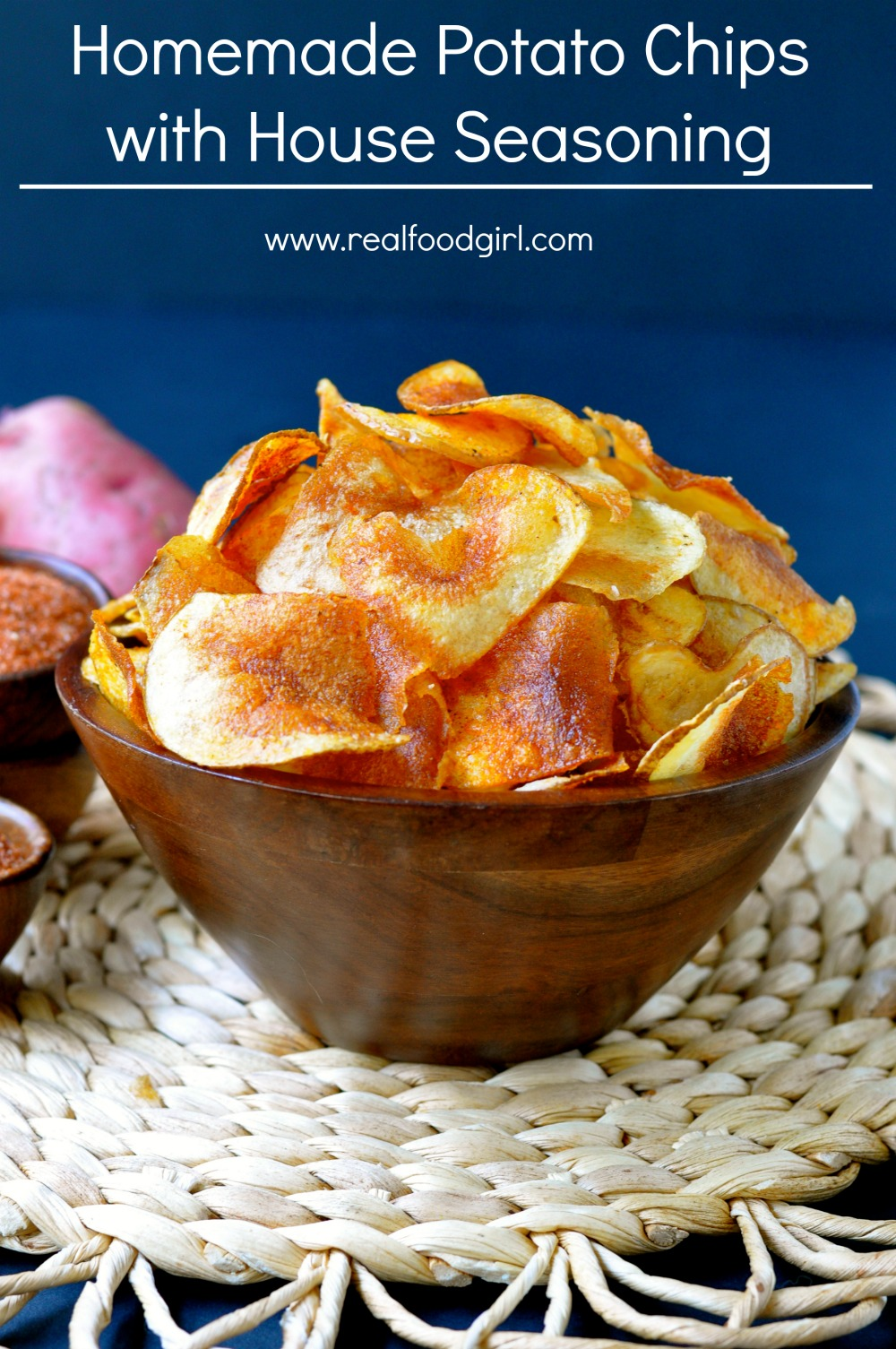 Homemade Potato Chips with House Seasoning| www.realfoodgirl.com