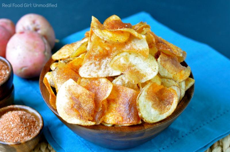 Homemade Potato Chips with House Seasoning| www.realfoodgirl.com
