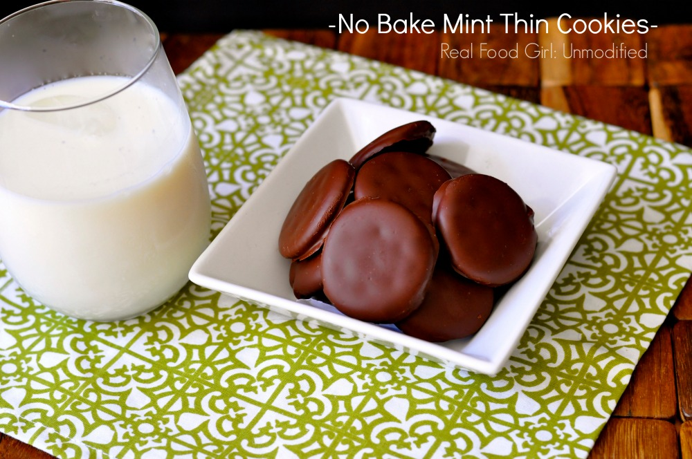 No Bake Mint Thin Cookies by Real Food Girl: Unmodified. Get your GS Cookie fix here!