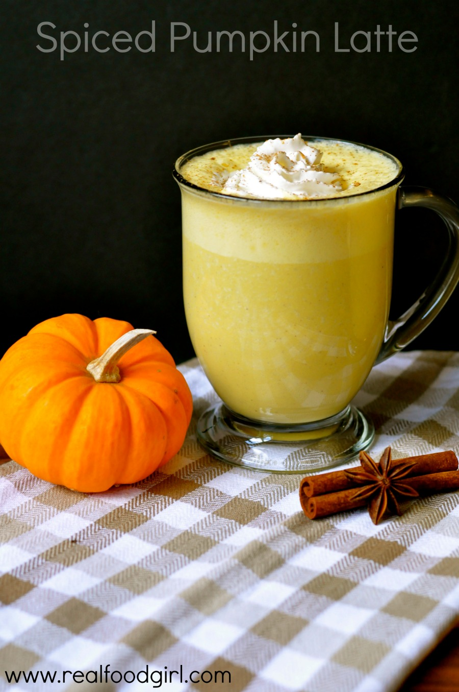 Spiced Pumpkin Latte by Real Food Girl-- Real Food version of the not-so-real-food PSL