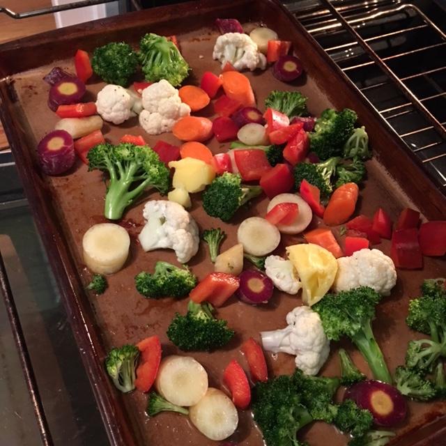 roasted real food veggies